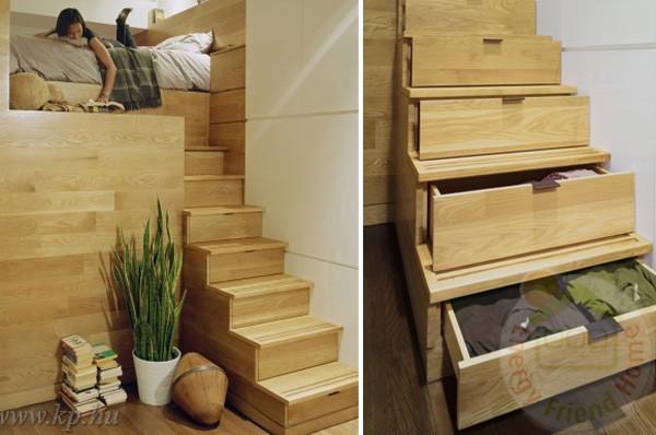 30 lépcső alatti tároló – Készház Portál – Könnyűszerkezetes házak ...