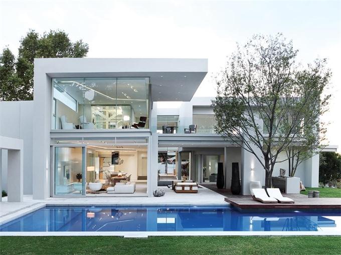 Csupa veg s kocka luxus d l afrik b l k szh z port l for Casas actuales modernas