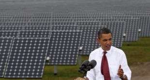 U.S. President Barack Obama speaks during a visit to DeSoto Next Generation Solar Energy Center in Arcadia