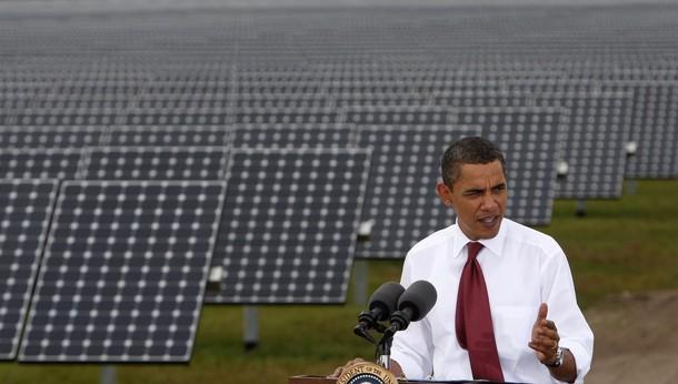 U.S. President Barack Obama speaks during a visit to DeSoto Next Generation Solar Energy Center in Arcadia