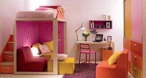 Children's-Bedroom-Ideas-Colour-Sofa-with-Rugs