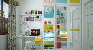 green-orange-blue-bedroom