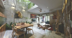 Reinvented-courtyard-home-in-Malaysia-social-area