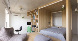 Small-apartment-in-Moscow-with-wooden-box-1
