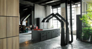 Black-wooden-ceiling-adds-an-unexpected-touch-to-the-interior-900x600