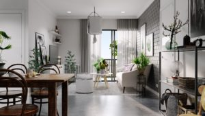 exposed-brick-wall-grey-furniture-paint