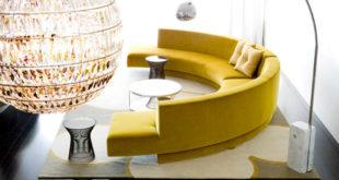 Yellow-Modern-Round-Sofa