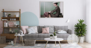 vintage-lady-photograph-pastel-wall-decal-Scandinavian-living-room