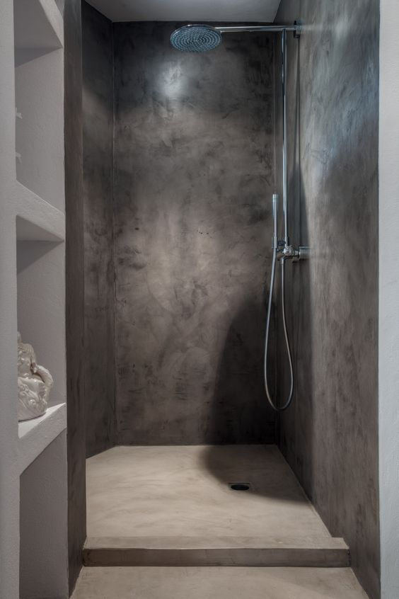 Simple-Concrete-shower-design