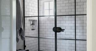 Black-and-white-subway-tiles-shower-design